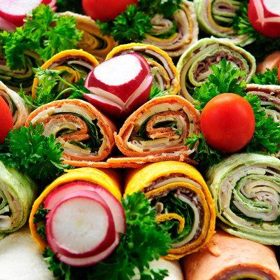 corporate catering Corporate Catering Sandwich Wraps 1